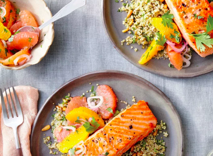STYLECASTER | 17 Fancy Date Night Dinners That Are Actually Super Easy | Sauteed Salmon With Citrus Salsa