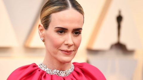 Sarah Paulson Is Pretty in Hot Pink at the 2019 Oscars   StyleCaster