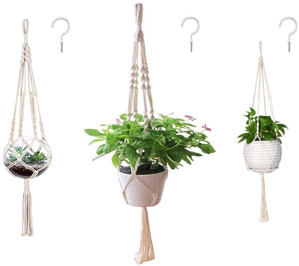 STYLECASTER | macrame hanging planters | boho bedroom decor