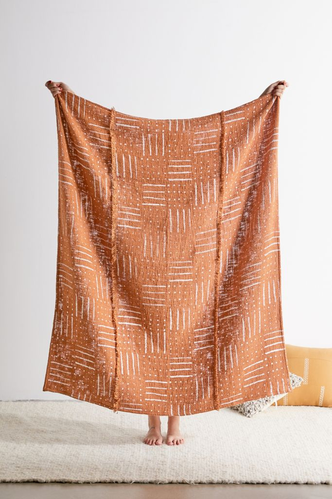 STYLECASTER | geometric throw blanket | bohemian bedroom decor | boho decor