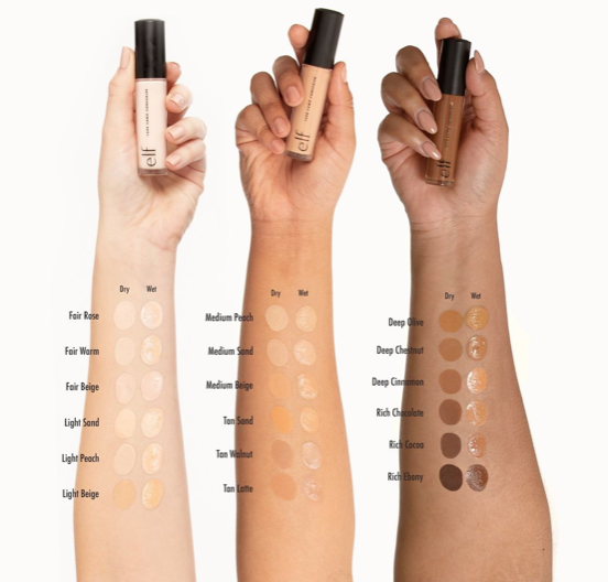 e.l.f. cosmetics 16h camo concealer swatches elfcosmetics.com  This New $5 Concealer Is The Affordable Dupe To A Cult Favorite