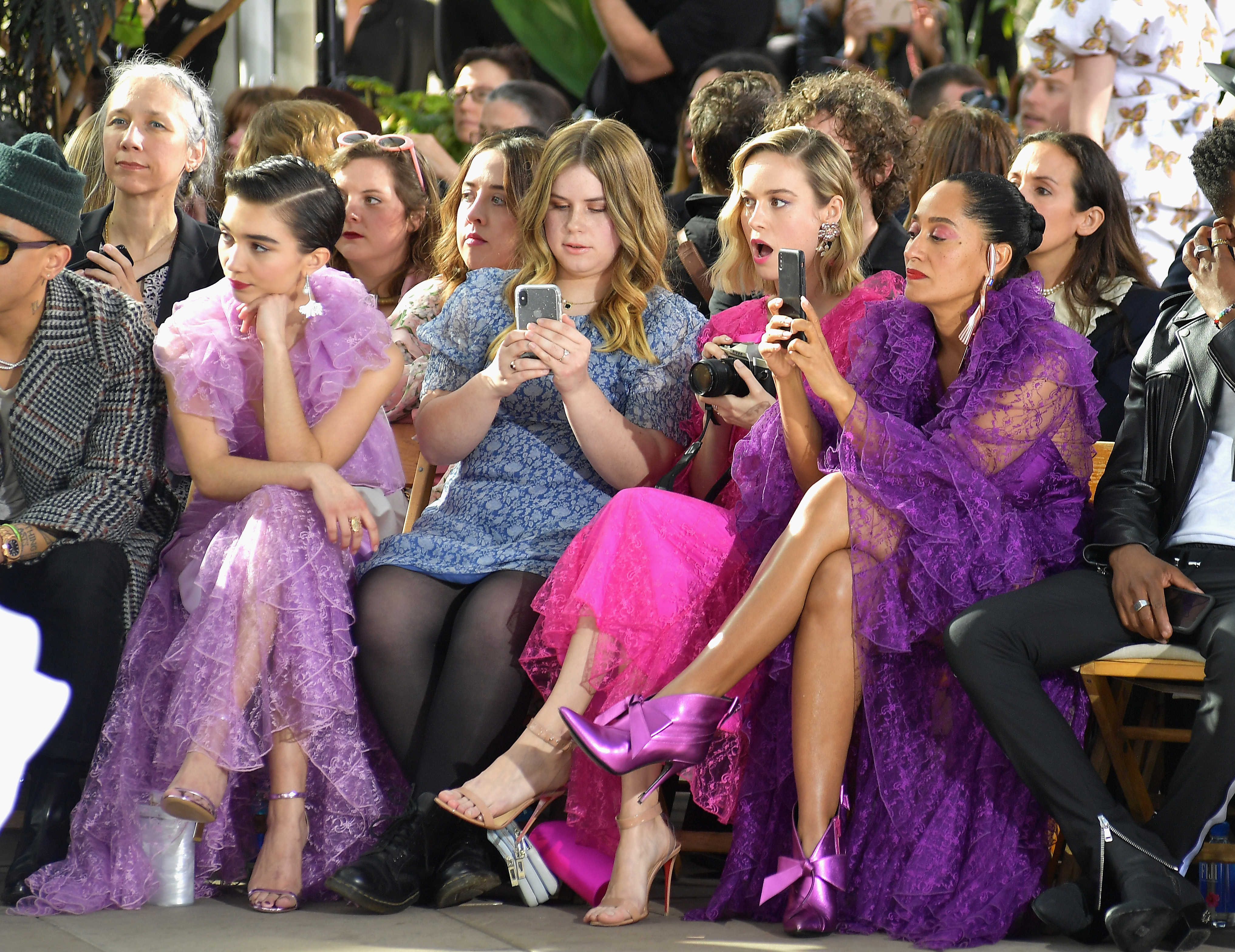 gettyimages 1094177606 Tracee Ellis Ross, Brie Larson and Rowan Blanchard Were Squad Goals at the Rodarte Show
