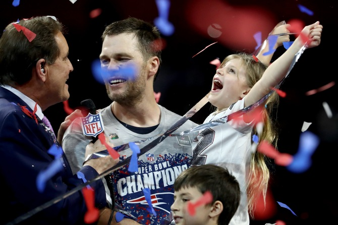 gettyimages 1127225788 Fans Are Going Wild for Tom Brady & Gisele Bündchen at Super Bowl VIII