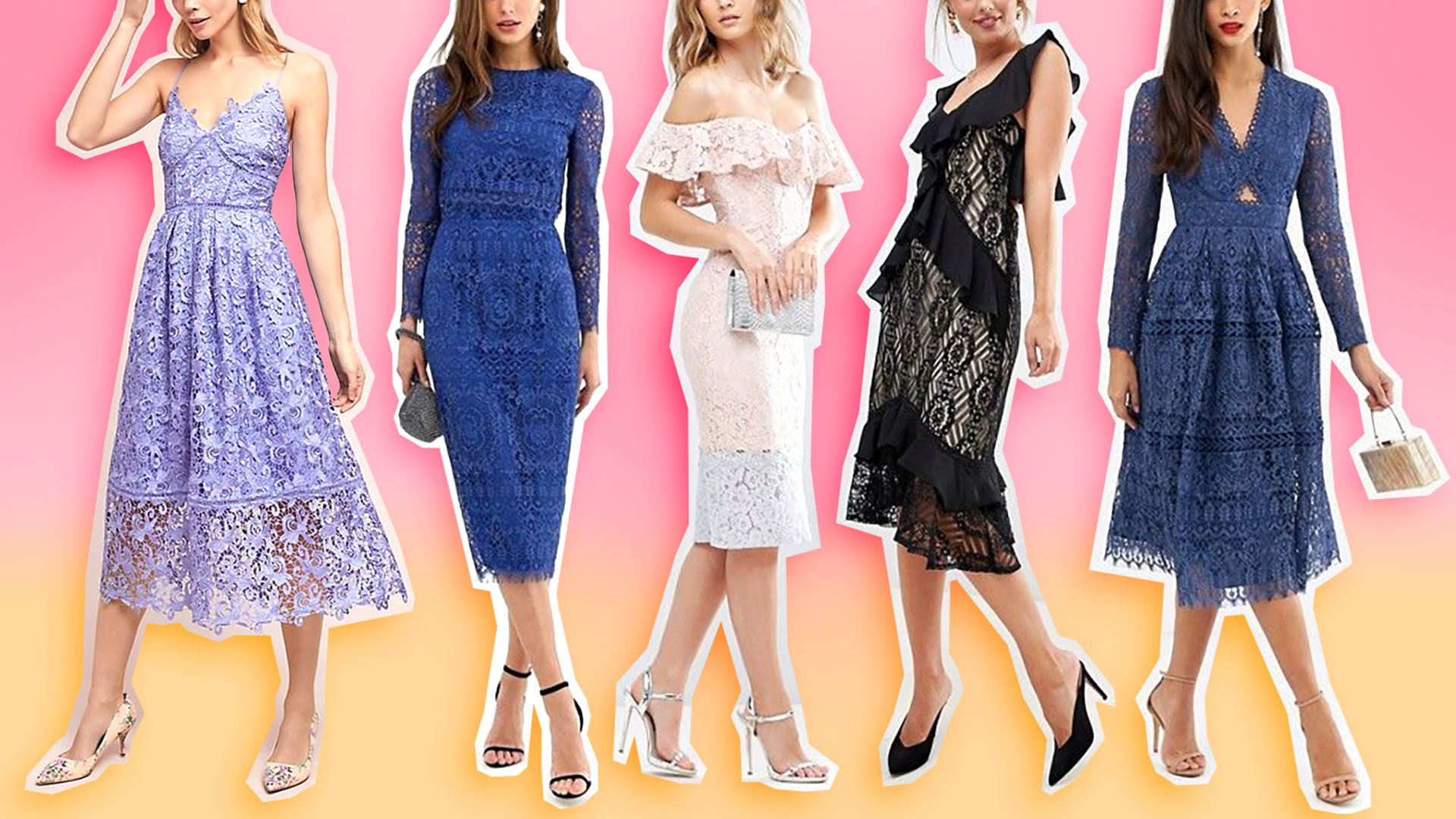 It's Pretty Much Impossible to Go Wrong with Lace Bridesmaid Dresses