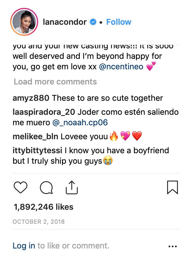 lana condor insta Lana Condor Says Noah Centineo Fans Said Horrible Things to Her Boyfriend After TATBILB