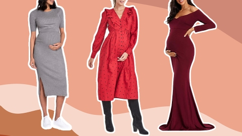 15 Cute Maternity Dresses That Are Perfect for Valentine's Day | StyleCaster