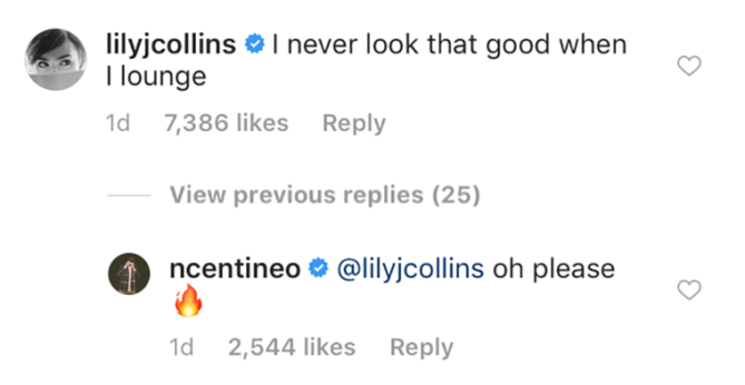 noah centineo instagram comments lily collins Fans Are Convinced Noah Centineo & Lily Collins Are Dating from These Instagram Clues