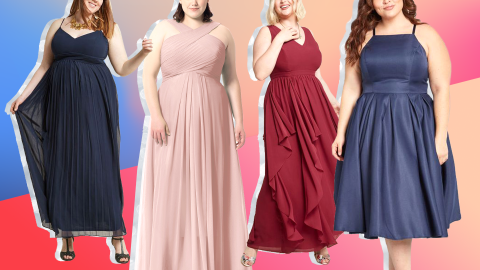 17 Plus-Size Bridesmaid Dresses That Will Make You Look (Almost) As Hot as the Bride | StyleCaster
