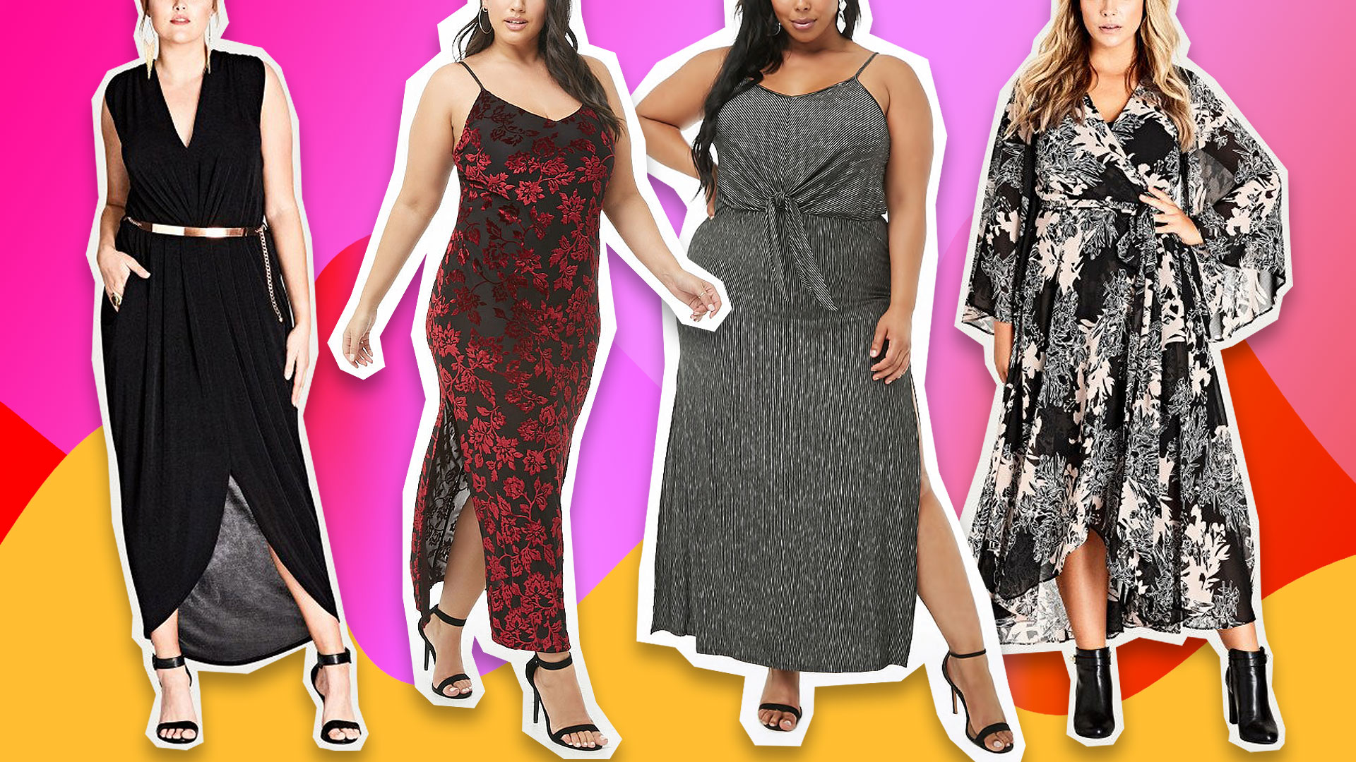 Discounted Plus-Size Winter Maxi Dresses So Cute, You'll Wonder Why They're on Sale