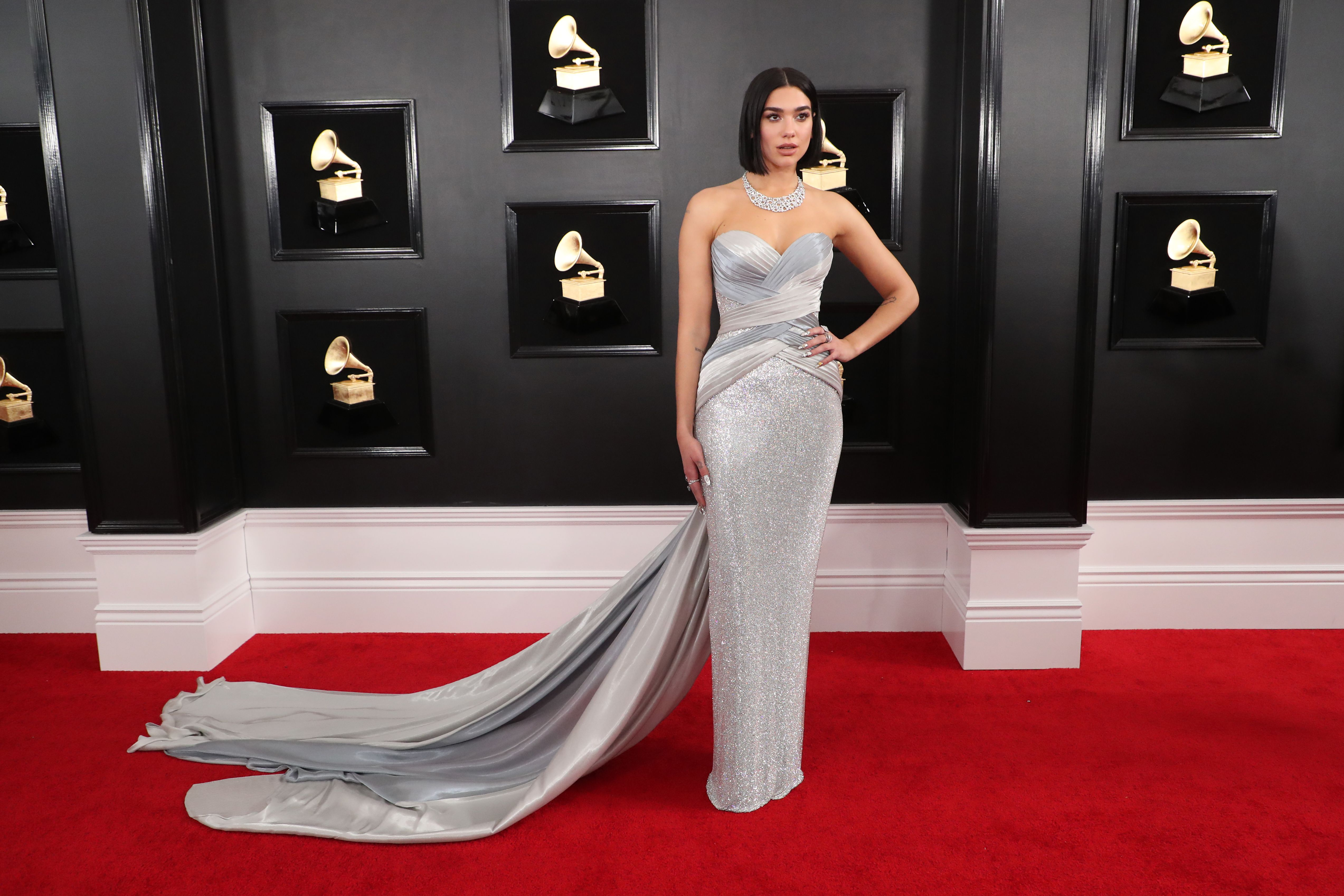 shutterstock 10095020kt 1 Dua Lipas Grammys Look Is Just as Electric as Her Nominated Single