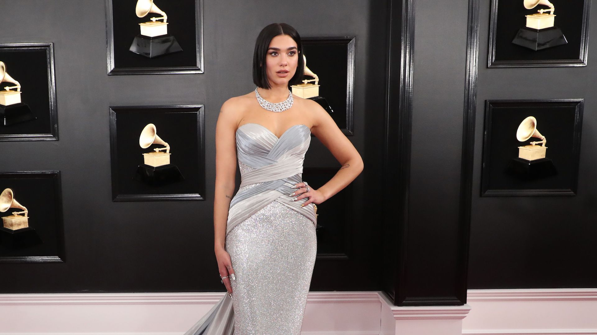 Dua Lipa's Grammys Look Is Just as Electric as Her Nominated Single