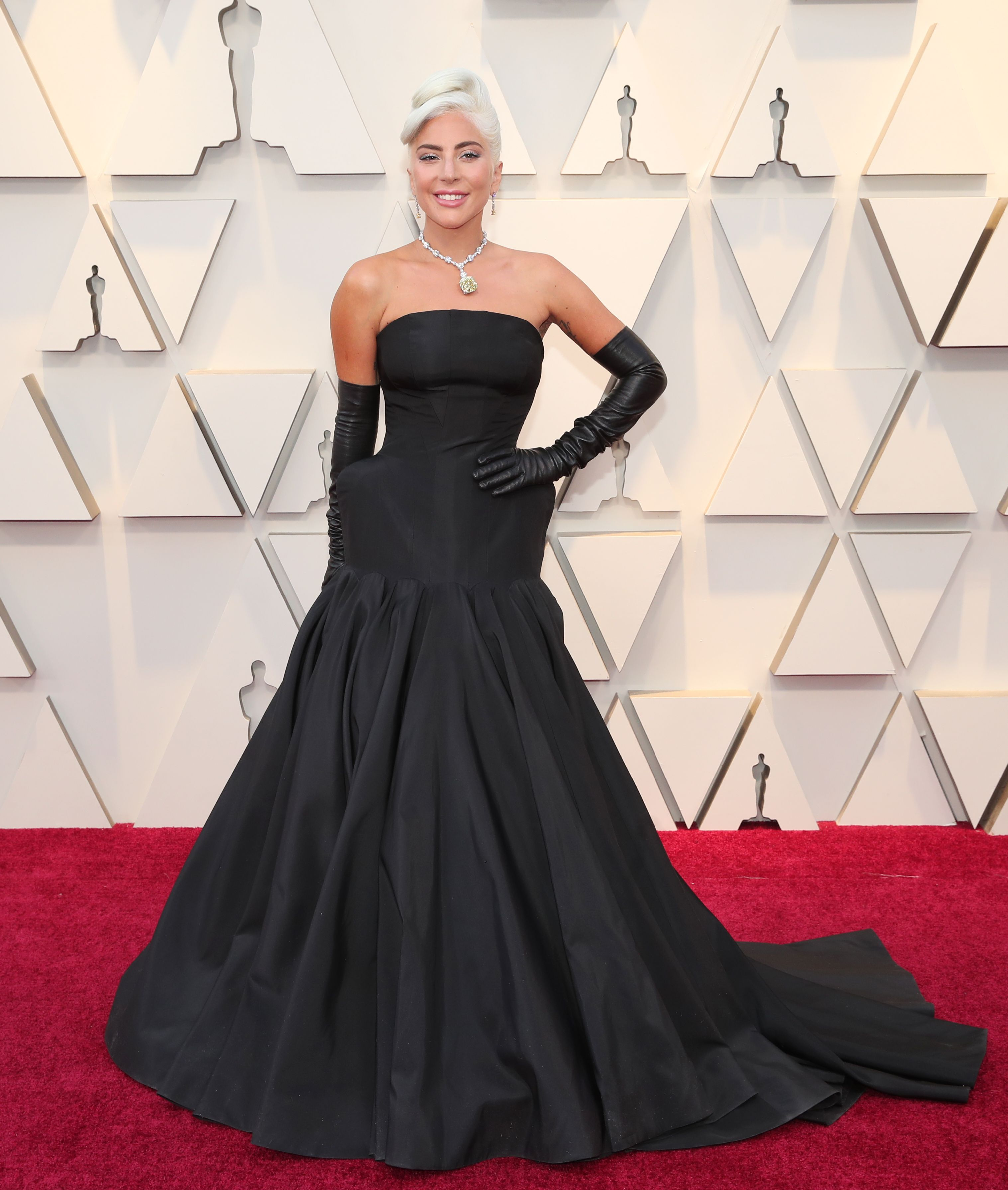 shutterstock 10113255ld Lady Gagas Oscars Look Was Sheer Old Hollywood Glamour—with a Twist