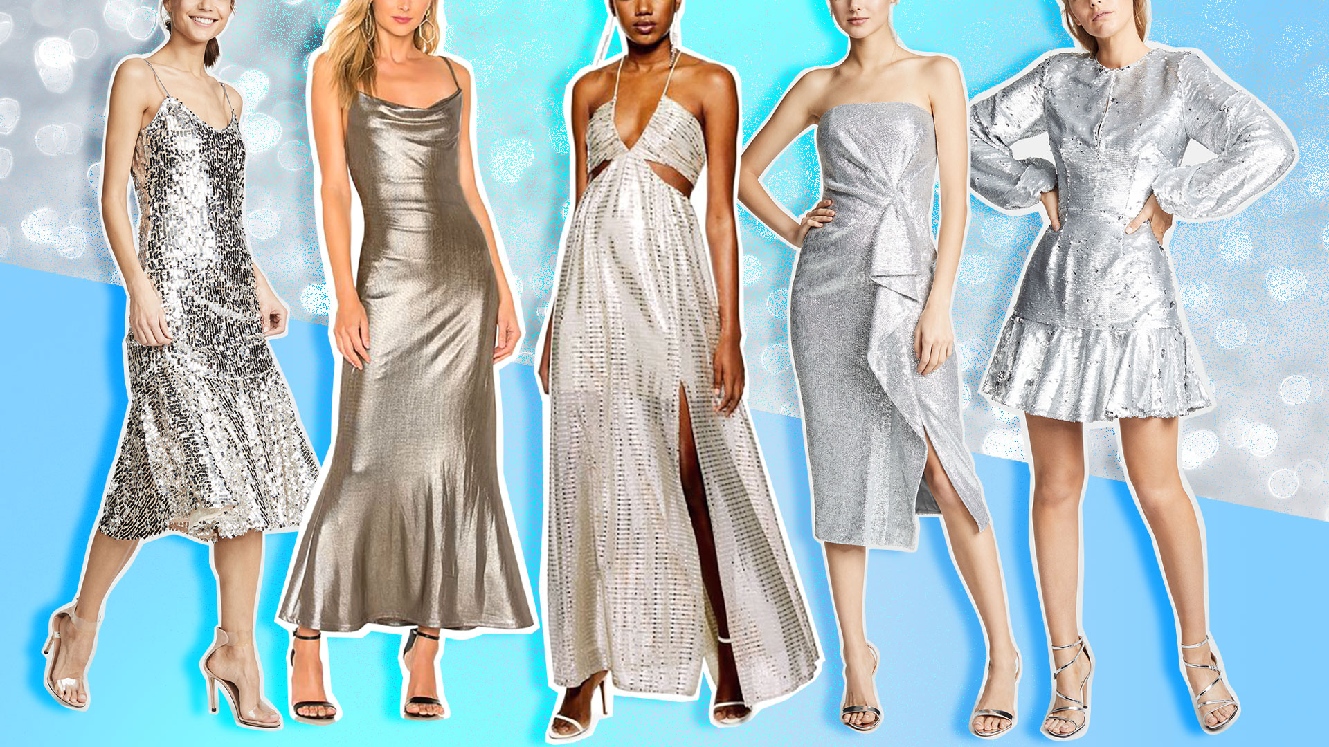 Silver Bridesmaid Dresses That Are Equal Parts Shimmery and Sleek