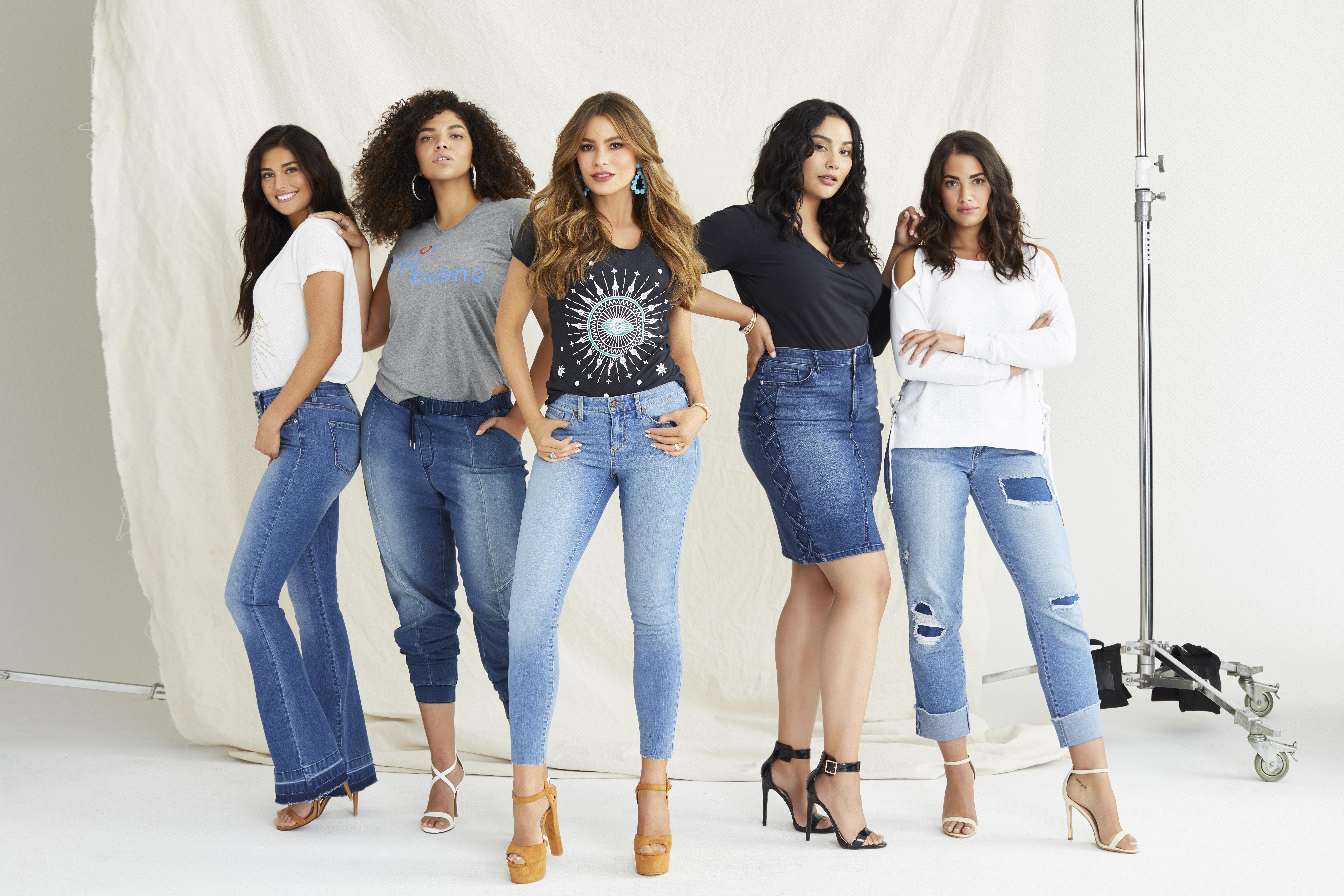 sofia jeans by sofia vergara group shot Sofía Vergaras New Denim Line Is Everything You Love About Expensive Brands—at Walmart.com Prices