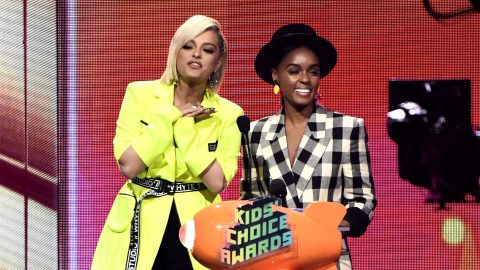 Janelle Monae and Bebe Rexha Wore Coordinating Outfits to the KCAs and I'm Crying | StyleCaster