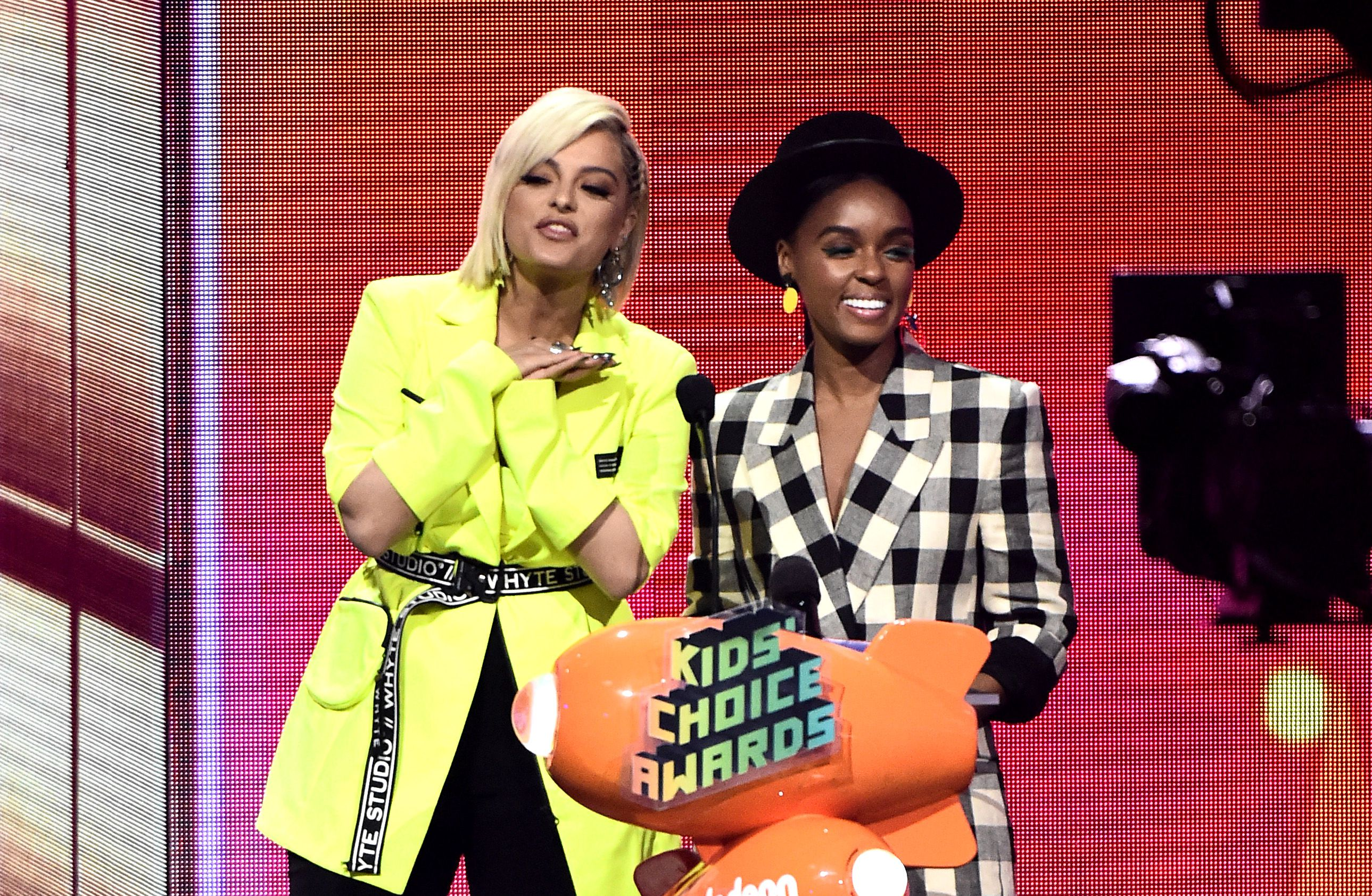 Janelle Monae and Bebe Rexha Wore Coordinating Outfits to the Kid's Choice Awards and I'm Crying