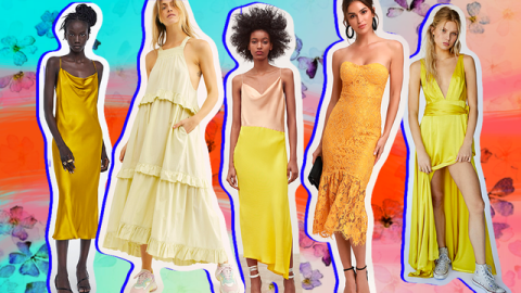 Yellow Bridesmaid Dresses Are Statement-Making Without Looking Over-the-Top | StyleCaster