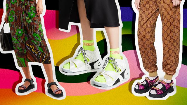 Spring 2019's Sporty Sandal Trend