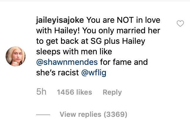 bieber fan instagram hhate Justin Bieber Says He Still Loves Selena Gomez While Defending Hailey Baldwin Relationship