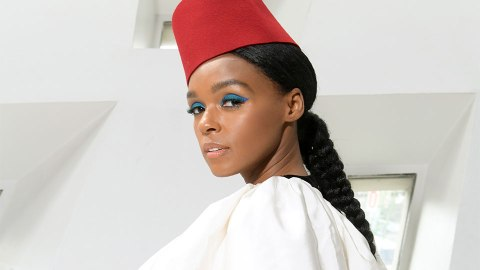 Janelle Monáe's Bejeweled Space Buns Are the Best Part of PFW | StyleCaster