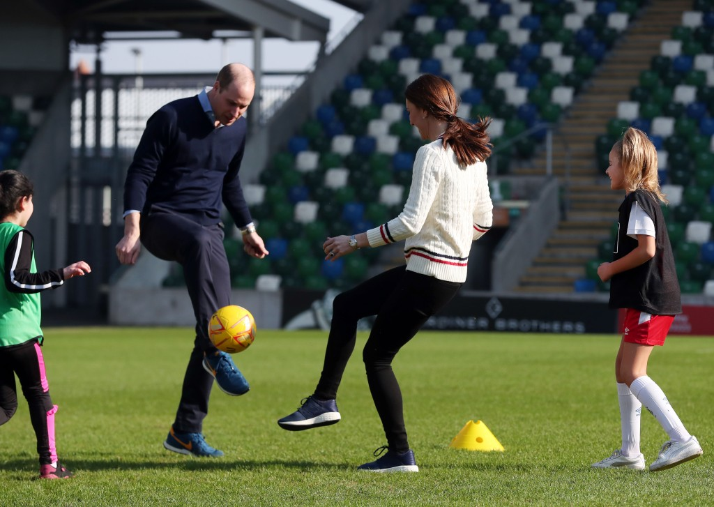 Kate Middleton Prince William Soccer.