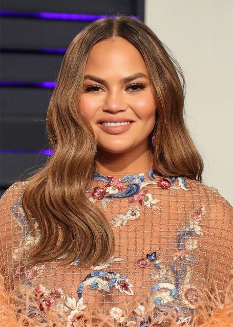 round face hairstyle chrissy teigen Its Finally Time to Retire This Predictably Boring Summer Hair Trend