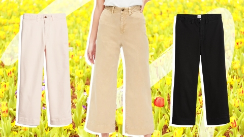5 Unexpected Spring Looks That Start With a Pair of Wide-Leg Chinos | StyleCaster