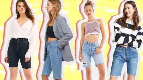 Knee-Length Denim Shorts Are the New Bike Short | StyleCaster