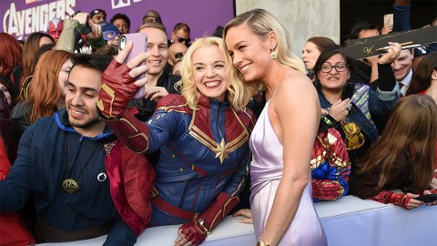 Brie Larson Was Literally Glowing at the 'Avengers: Endgame' LA Premiere | StyleCaster