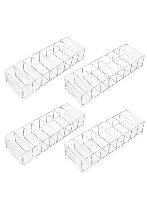 Foraineam 4 Pack Acrylic Compact Organizer