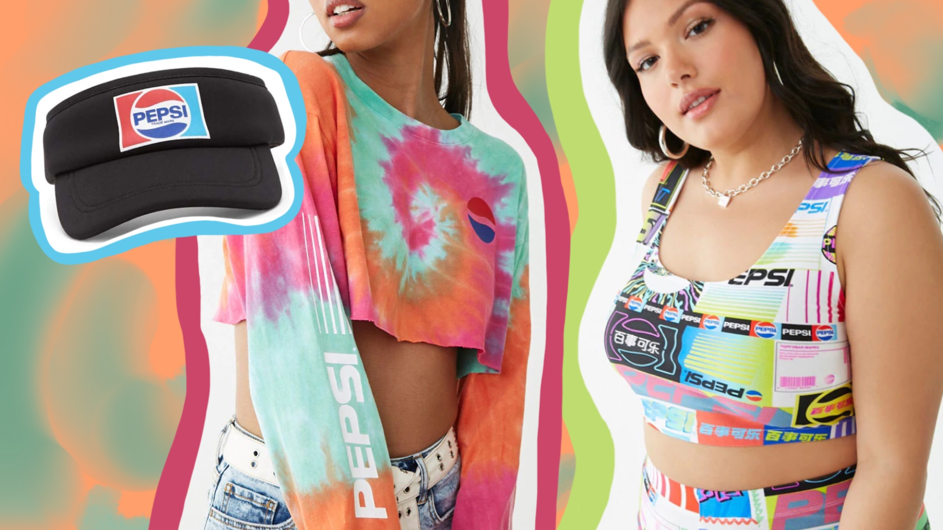 The New Forever 21 and Pepsi Collab Makes Me Feel Like I'm Living My Best '90s Tie-Dye Life