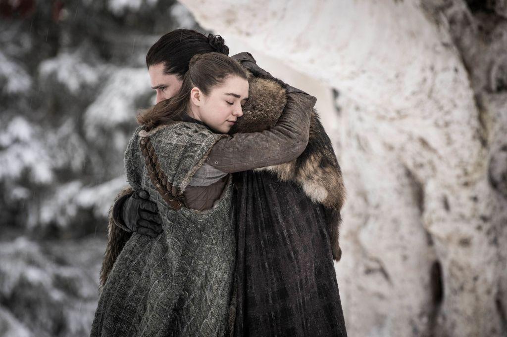 Arya Jon Snow game of thrones