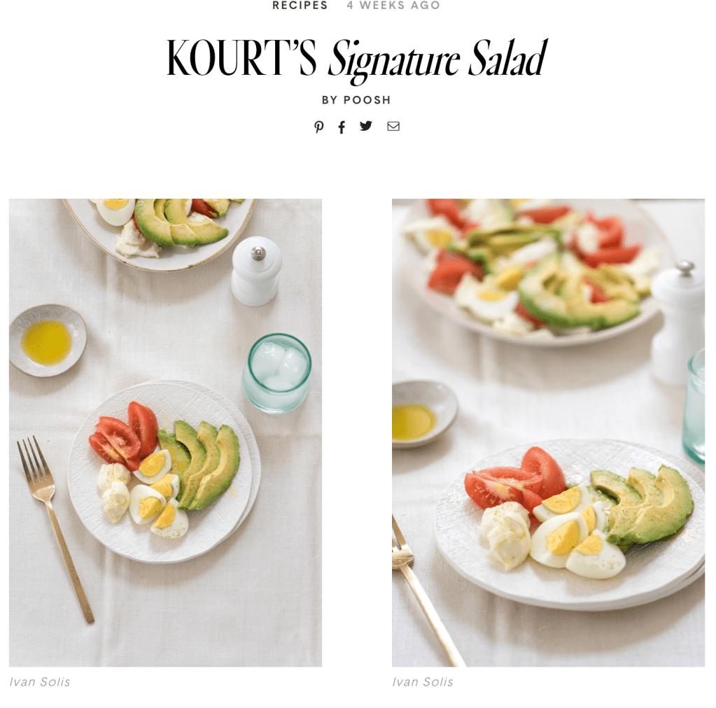 kourtney kardashian poosh salad Kourtney Kardashians New Lifestyle Site Slammed for Catering to Thin, Rich White Women