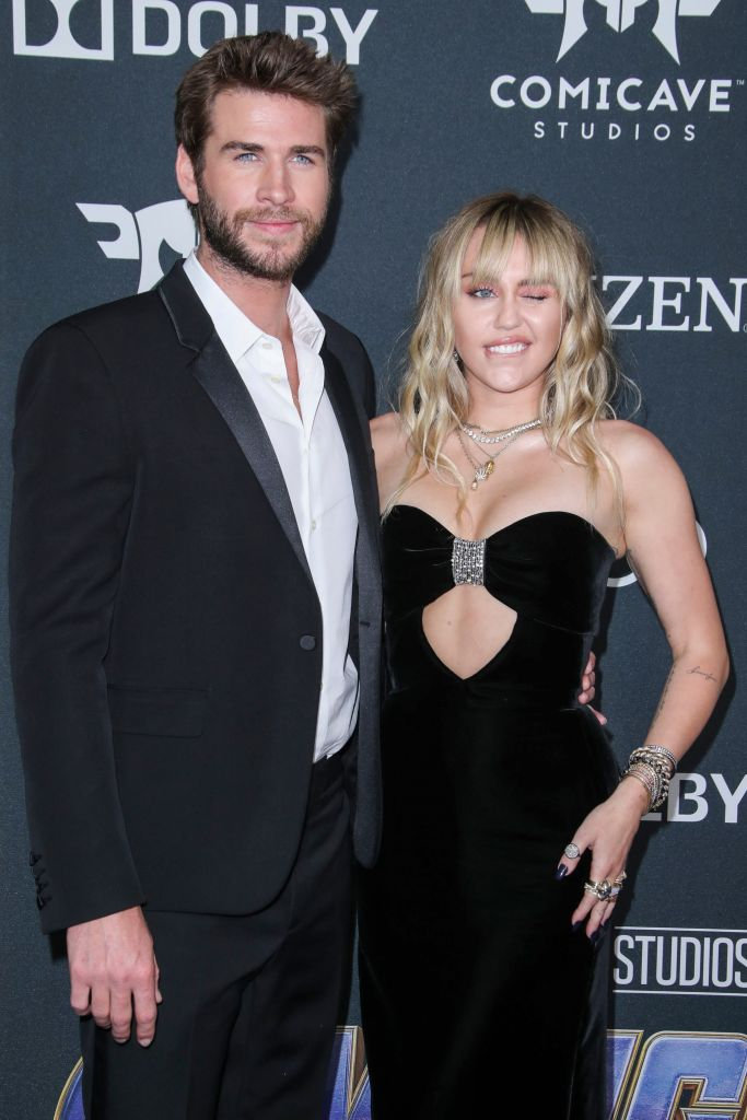 liam hemsworth miley cyrus avengers Liam Hemsworth Trolled Miley Cyrus for Their Fight at the Avengers: Endgame Premiere
