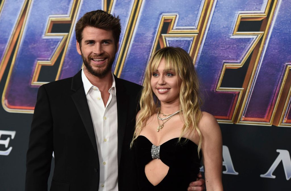 miley cyrus liam hemsworth Liam Hemsworth Trolled Miley Cyrus for Their Fight at the Avengers: Endgame Premiere