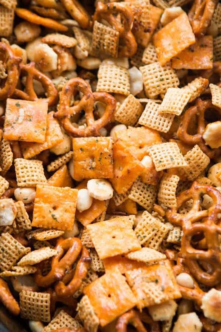 STYLECASTER | 17 Stoner Snacks You Can Actually Whip Up in the Slow-Cooker | Ranch Chex Mix