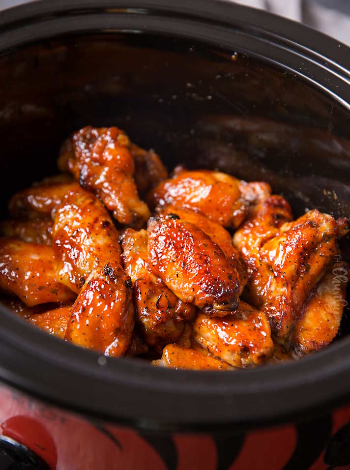 STYLECASTER | 17 Stoner Snacks You Can Actually Whip Up in the Slow-Cooker | Honey Buffalo Wings