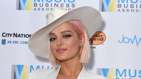 Bebe Rexha's Music Biz 2019 Awards Outfit Is Weirdly Cowboy Chic, and I Don't Hate It | StyleCaster