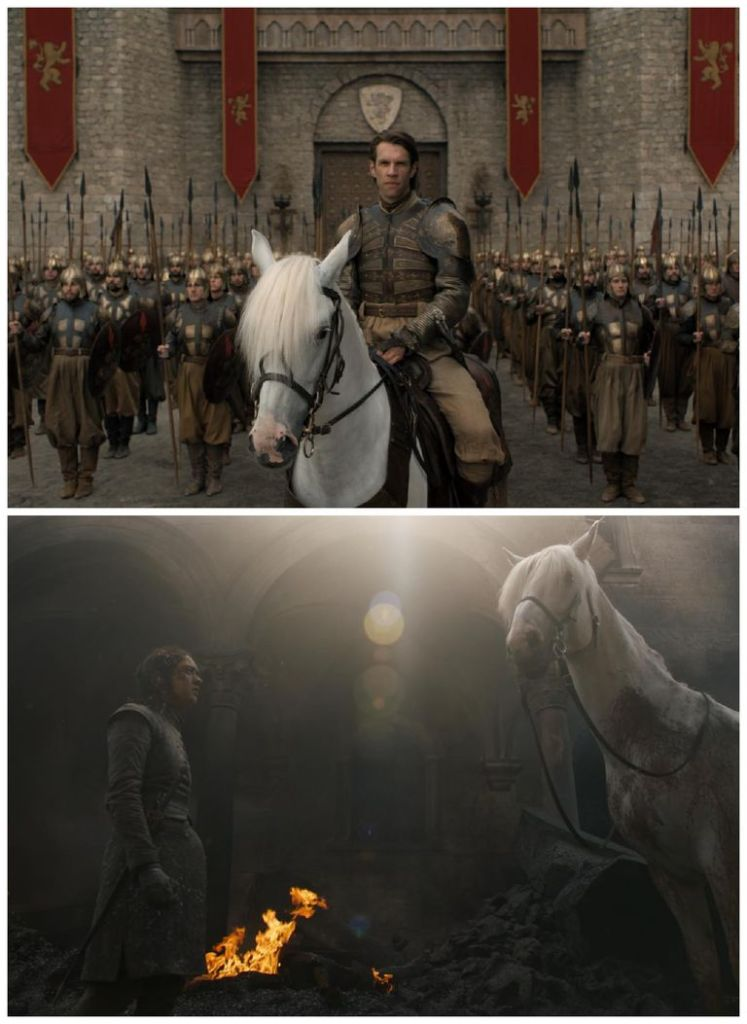 game of thrones white horse arya Were Obsessed With This Game Of Thrones Theory About Arya & That White Horse
