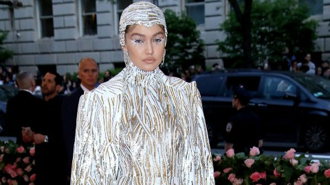Gigi Hadid Was Draped In Silver at the 2019 Met Gala | StyleCaster