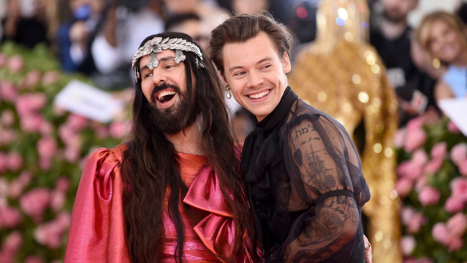 Harry Styles Wore a Sheer Jumpsuit on the Met Gala Red Carpet, and Am I the Only One Who Just Peed My Pants