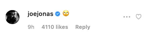 joe jonas instagram comment Joe Jonas & Sophie Turner Shaded Diplo For Ruining Their Wedding