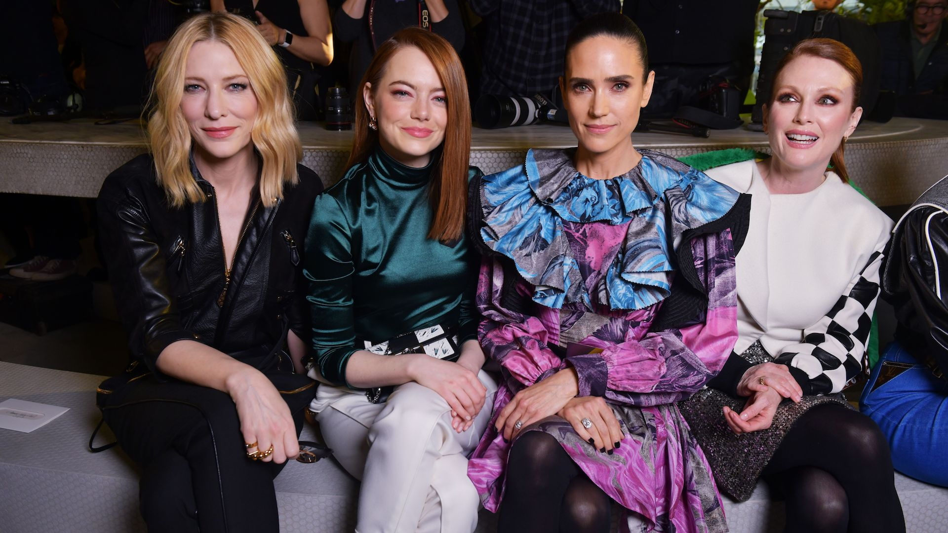 Front Row at the Louis Vuitton Cruise Show Was Major Squad Goals