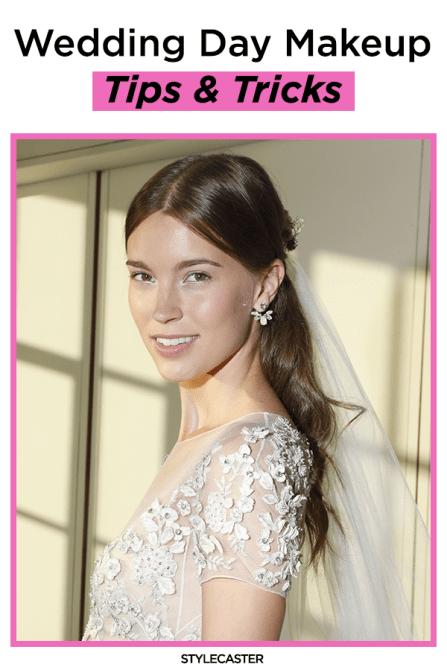 STYLECASTER   wedding   wedding makeup   natural wedding makeup   bridal   bride   bridal makeup  