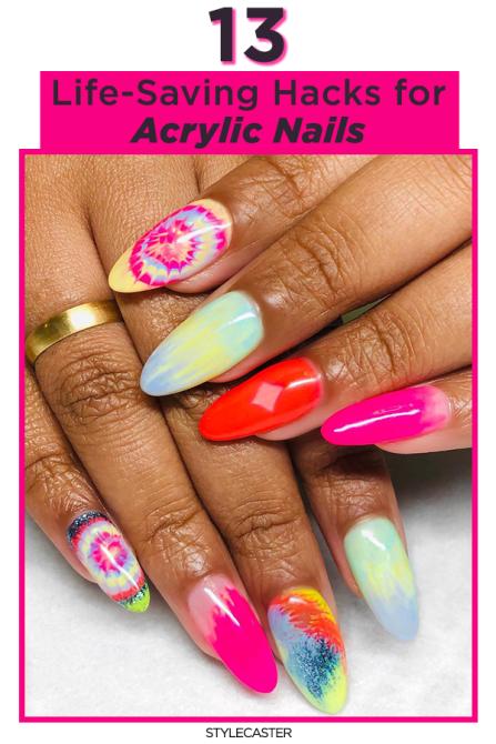 STYLECASTER | acrylic nails | acrylic nail hacks | nail hacks | nail tips | acrylic nail tips | manicure | nails