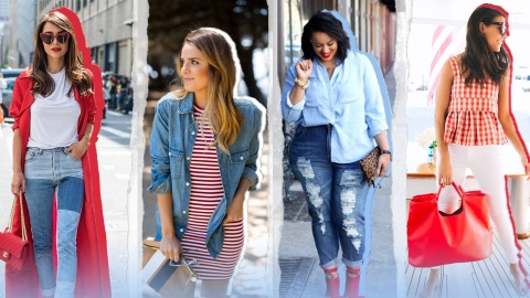 10 Red, White & Blue Outfit Ideas To Copy Now For Fourth Of July | StyleCaster
