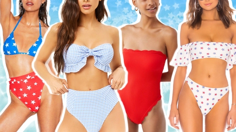 Patriotic Bathing Suits Are a Must on the Fourth of July | StyleCaster