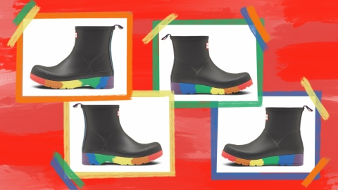 Hunter Is Celebrating Pride Month with a Cute Rainbow Boot (!!) That Gives Back (!!!)   StyleCaster