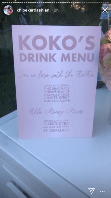 khloe drinks Khloé Kardashians 35th Birthday Party Was A Whimsical Pink Wonderland