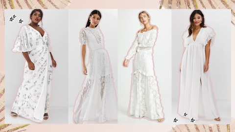White Dresses Perfect for Each and Every Bridal Event | StyleCaster